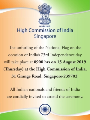 Welcome to High Commission of India in Singapore