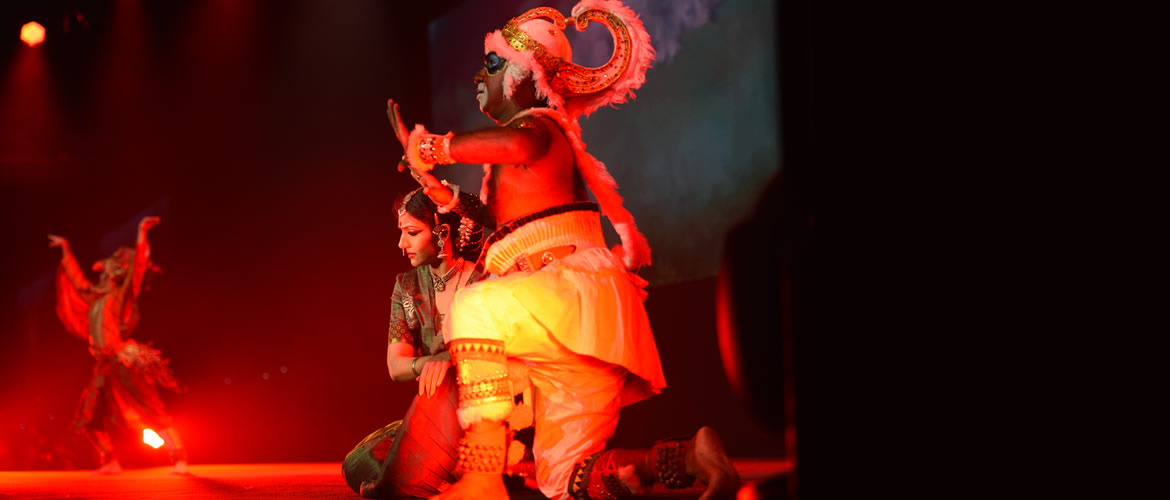 ASEAN India Pravasi Bharatiya Divas 2018, Singapore Artists depicting a scene from the epic Ramayana