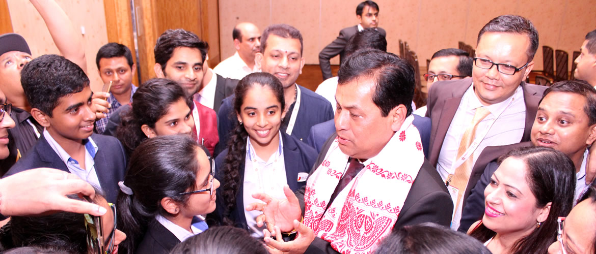 Assam Chief Minister, Mr Sarbananda Sonawal inspiring the young minds at Pravasi Bharatiya Divas, Singapore