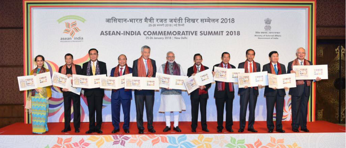 Release of postal stamps to commemorate silver jubilee of India and ASEAN partnership