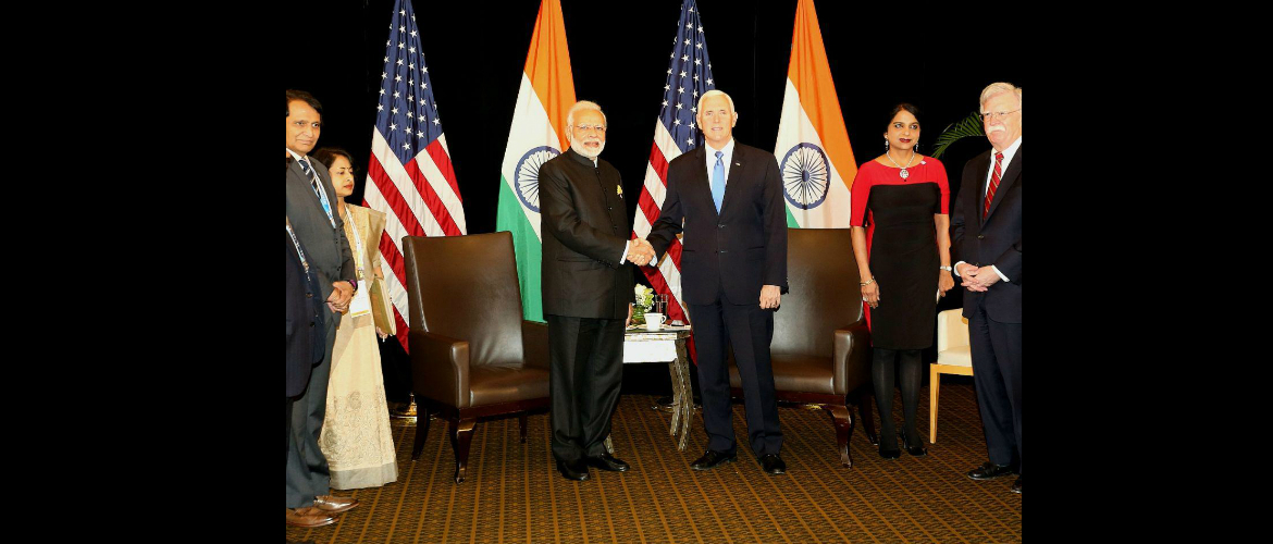 Prime Minister meets Michael R. Pence, Vice President of the United States in Singapore