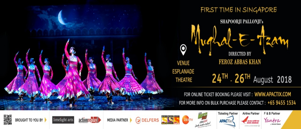 Mughal-E-Azam in Singapore, on 24 - 26 August 2018, at The Esplanade
