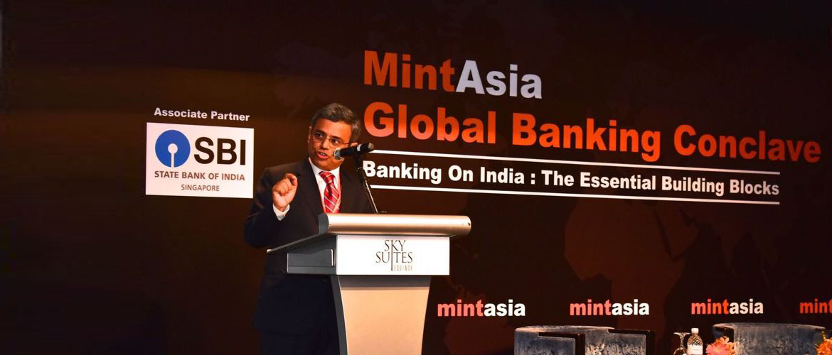 High Commissioner Jawed Ashraf delivering keynote address at 4th Mint Asia Global Banking Conclave on 09 March 2018