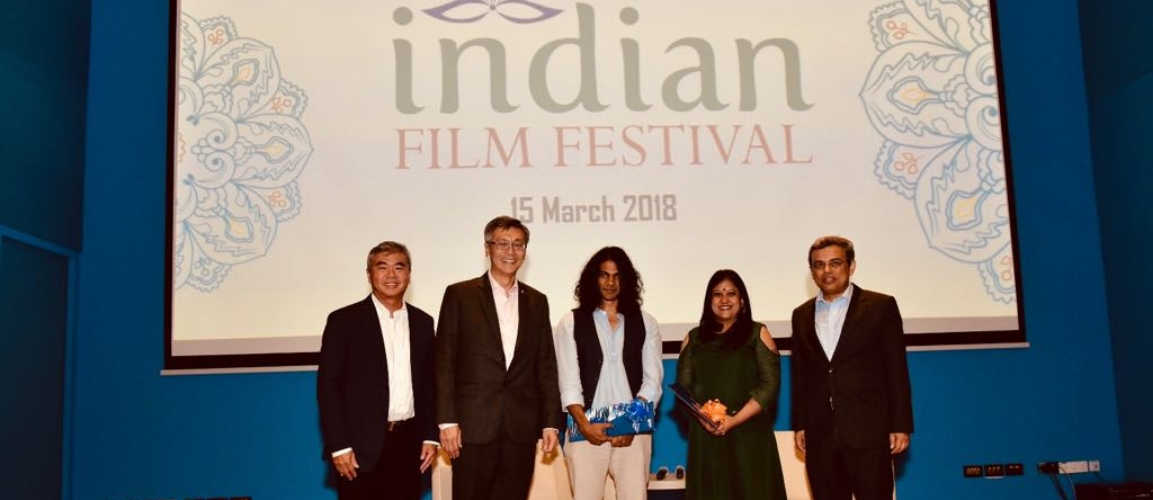 NUS President, Director of NUS alumni and High Commissioner at the Closing ceremony of Indian Film Festival, 15 March 2018