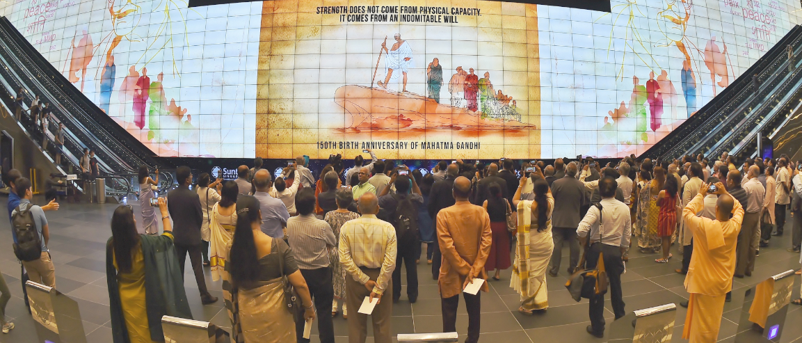 150th birth anniversary celebrations of Mahatma Gandhi in Singapore on 02 Oct 2018